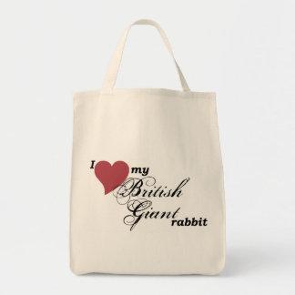 British Giant rabbit Grocery Tote Bag