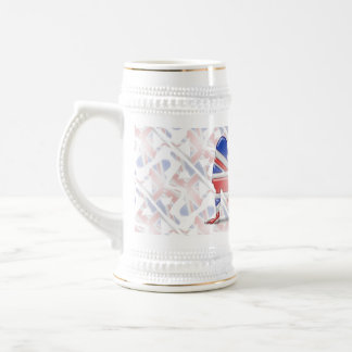 British Girl Silhouette Flag Beer Steins