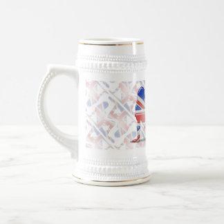 British Girl Silhouette Flag Beer Steins