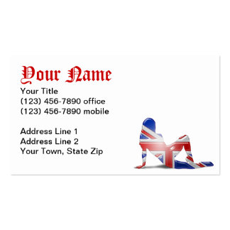 British Girl Silhouette Flag Double-Sided Standard Business Cards (Pack Of 100)