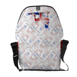 British Girl Silhouette Flag Courier Bags