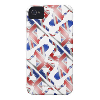 British Girl Silhouette Flag iPhone 4 Cover