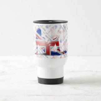 British Girl Silhouette Flag Mugs