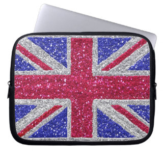BRITISH GLITTER AFFECT LAPTOP SLEEVE