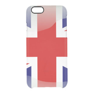 British glossy flag clear iPhone 6/6S case