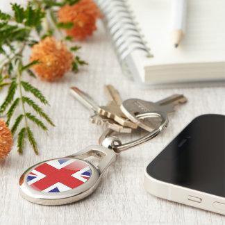 British glossy flag key ring