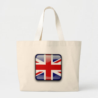 British glossy flag large tote bag