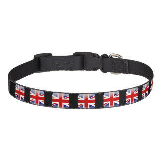 British glossy flag pet collar