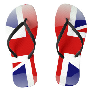British glossy flag thongs