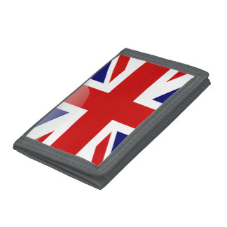 British glossy flag tri-fold wallet