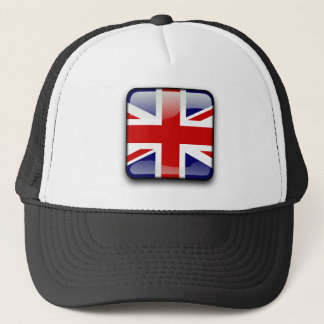 British glossy flag trucker hat