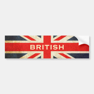 British Grunge Union Jack Bumper Sticker