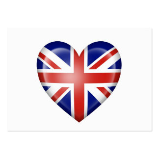 British Heart Flag on White Business Card Template
