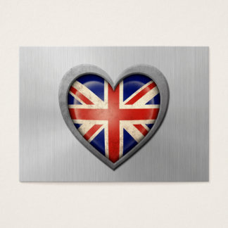 British Heart Flag Stainless Steel Effect