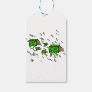 british hedge hogs gift tags