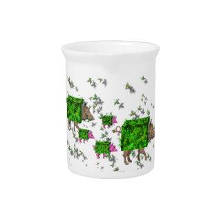 british hedge hogs pitcher