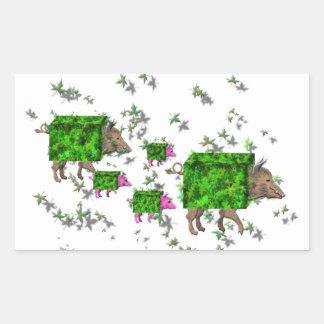 british hedge hogs rectangular sticker