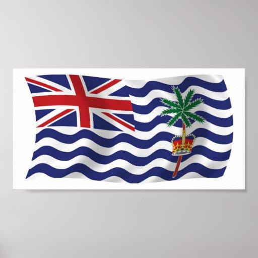 British Indian Ocean Flag Poster Print