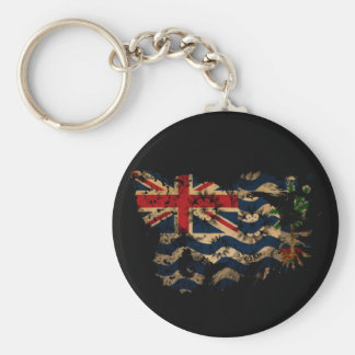 British Indian Ocean Territories Flag Basic Round Button Key Ring