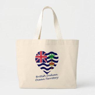 British Indian Ocean Territory Flag Heart Bags