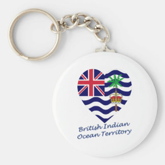 British Indian Ocean Territory Flag Heart Keychain