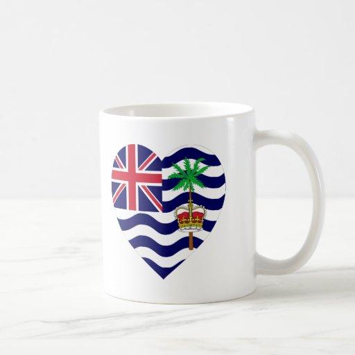 British Indian Ocean Territory Flag Heart Mugs