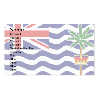 British Indian Ocean Territory Flag Pack Of Standard Business Cards