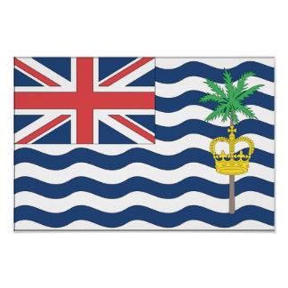 British Indian Ocean Territory Flag Poster