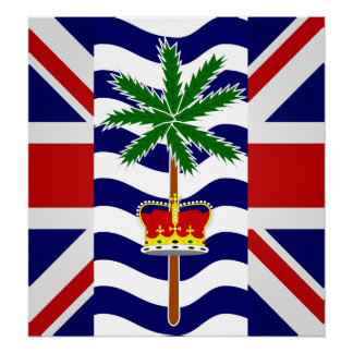 British Indian Ocean Territory High quality Flag Posters