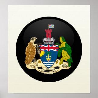 British Indian Ocean Territory quality Flag Circle Posters