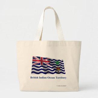 British Indian Ocean Territory Waving Flag, Name Jumbo Tote Bag