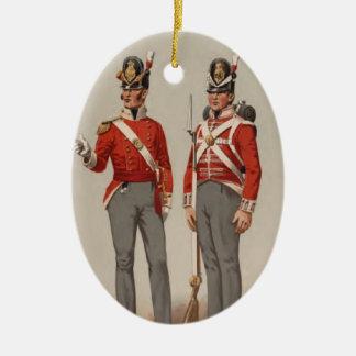 British Infantry Ceramic Ornament