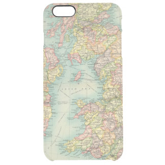 British Isles political map Clear iPhone 6 Plus Case