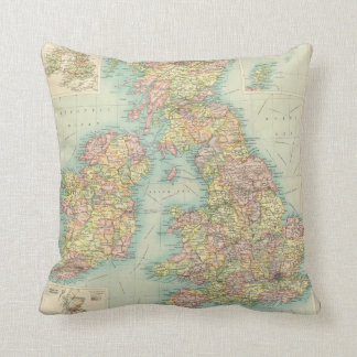 British Isles political map Cushion