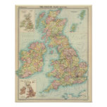 British Isles political map Poster