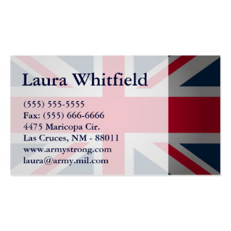 British Keep Calm Carry British Flag Business Card