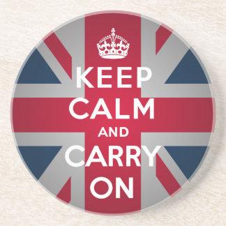 British Keep Calm Carry British Flag Coasters