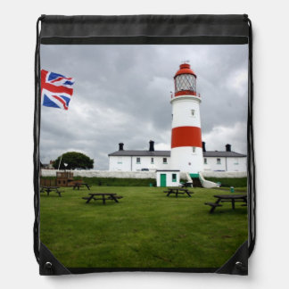 British Lighthouse Drawstring Backpack