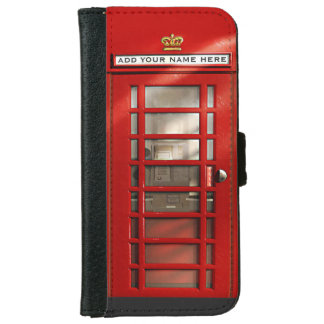 British London City Red Phone Booth iPhone 6 Wallet Case