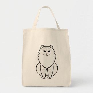 British Longhair Cat Cartoon Tote Bag