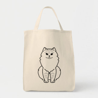 British Longhair Cat Cartoon Canvas Bags