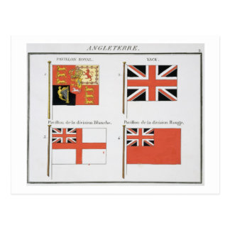 British Maritime Flags, from a French book of Flag Postcard