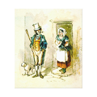 British Married Couple 1846 Stretched Canvas Prints