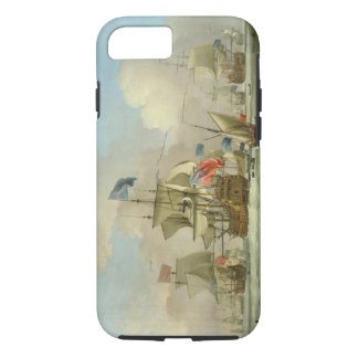 British Men-of-War and a Sloop, c.1720-30 (oil on iPhone 7 Case