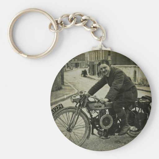 British Motorcycle Vintage Early 1900s Key Chains