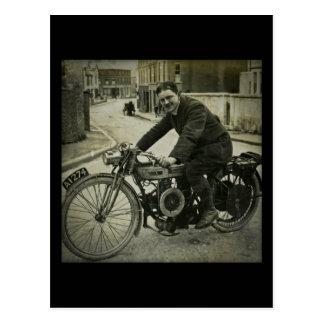 British Motorcycle Vintage Early 1900s Postcard