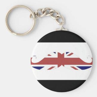 british moustache keychain