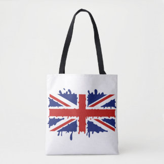 British paint flag tote bag