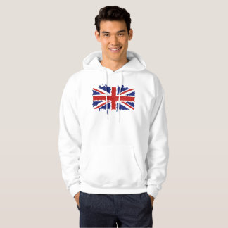 British paint splash flag hoodie