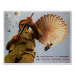 British Paratrooper ~ His Needs Come First Poster